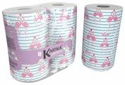 Полотенца бумажные World Cart Kartika collection Flamingo белые с рисунком двухслойные