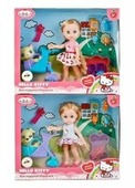 Кукла Карапуз Hello Kitty Моя подружка Машенька с питомцем, 15 см, в ассортименте, MARY63002-HK