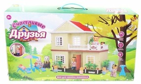 Игровой набор ABtoys Счастливые друзья - Дом для семейки животных PT-00456