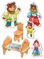 Русский стиль Пазлы 3D Три медведя (02407)