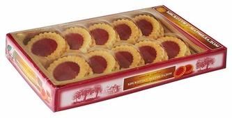 Печенье БИСКОТТИ с вишневым мармеладом в коробке, 235 г