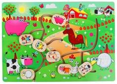 Головоломка Мастер игрушек Лабиринт Веселая ферма (IG0185)