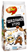 Готовый завтрак ОГО! Школьное утро алфавит со сгущенным молоком и какао со вкусом фундука, пакет