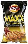 Lay's Чипсы Lay s Maxx картофельные Куриные крылышки барбекю рифленые