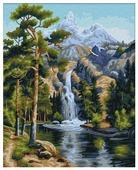 """Мосфа Картина по номерам """"Горный поток"""" 40х50 см (7C-0156)"""