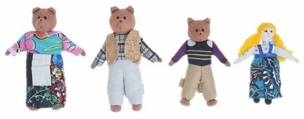 Наивный мир Театр пальчиковый шагающий Три медведя (004.07)