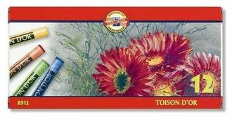 KOH-I-NOOR Пастель сухая Toison D or 12 цветов (8512/12)