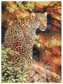 Dimensions Набор для вышивания крестиком Leopard s Gaze (Взгляд леопарда) 30 х 41 см (35209)