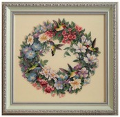 Dimensions Набор для вышивания Hummingbird Wreath (Венок с колибри) 37 х 36 см (35132)