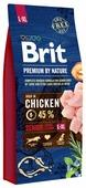 Корм для пожилых собак Brit Premium by Nature курица (для крупных пород)