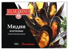 ELMARINO Мидии копчёные в растительном масле, 103 г