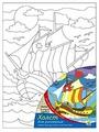 """Рыжий кот Картина по контурам """"Быстрый кораблик"""" 18х24 см (Х-1650)"""