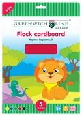 Цветной картон бархатный Greenwich Line, A4, 5 л., 5 цв.