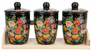 "Polystar Global Art Набор банок для сыпучих продуктов ""Романс"" 3 шт."