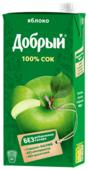 Сок Добрый Яблоко, с крышкой, без сахара