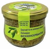 OLIVATECA Брускетта из зеленых оливок Халкидки, стеклянная банка 200 г