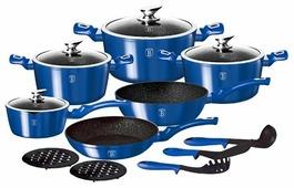 Набор посуды Berlinger Haus Royal blue Metallic Line ВН-1659N 15 пр.