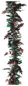 Мишура Феникс Present новогодняя цветная с листочками 200 х 9 см
