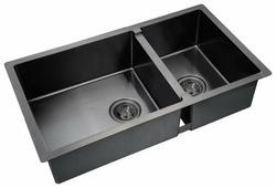 Врезная кухонная мойка ZorG PVD 78-2-44 GRAFIT 78х44см нержавеющая сталь