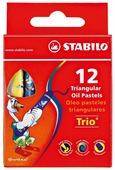STABILO Пастель масляная Trio 12 цветов (2612)