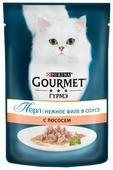 Корм для кошек Gourmet Перл с лососем 85 г (кусочки в соусе)