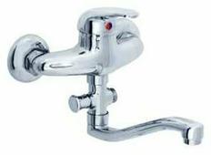 Смеситель для ванны с душем Rubineta Prince P-12/G однорычажный лейка в комплекте