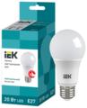Лампа светодиодная IEK ECO 4000K, E27, A60, 20Вт