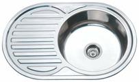 Врезная кухонная мойка Ростовская Мануфактура Сантехники MS6-7750OVR 77х50см нержавеющая сталь