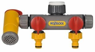 Распределитель Flow Max 2х канальный с краном (2250) HOZELOCK