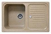 Врезная кухонная мойка Gran-Stone GS-78 78х50см искусственный мрамор