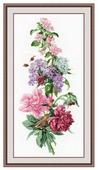 Набор для вышивания Цветочная композиция.Пионы., 1000В, Овен