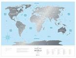 Cкретч карта мира Travel Map Silver