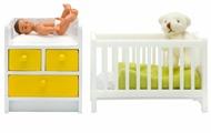 Набор для пеленания Lundby Кровать с пеленальным комодом LB_60905300