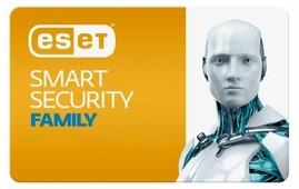 ESET NOD32 Smart Security Family - карта продления лицензии (3 устройства, 1 год) только лицензия