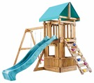 Домик Babygarden с закрытым домиком, скалолазкой и горкой 2.4 м