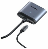 Переходник Baseus Enjoy HUB USB Type-C - HDMI 2x PD HD - USB Type-C (CAHUB-I0G)