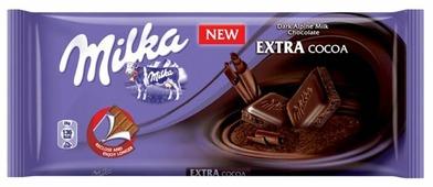 Шоколад Milka Extra Cocoa темный