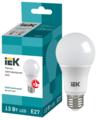 Лампа светодиодная IEK ECO 4000K, E27, A60, 13Вт
