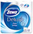 Туалетная бумага Zewa Deluxe Pure White белая трёхслойная