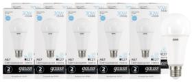 Упаковка светодиодных ламп 10 шт gauss 73239, E27, A67, 30Вт