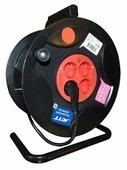 Jett Электрический удлинитель на катушке 4 гн. с заземлением 40 м (ПВС 3x1,5)