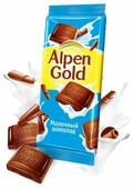 Шоколад Alpen Gold молочный
