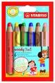 STABILO Цветные карандаши Woody 3 in 1 6 цветов (8806)