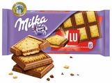Шоколад Milka молочный с печеньем LU