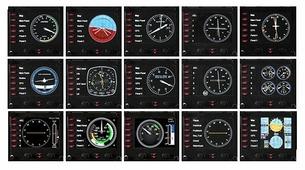 Панель Logitech Flight Instrument Panel
