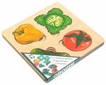 Рамка-вкладыш Нескучные игры Больше-меньше Овощи (7912), 12 дет.