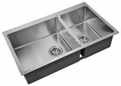 Врезная кухонная мойка ZorG INOX R 78-2-51-L 78х51см нержавеющая сталь