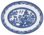 CHURCHILL Блюдо овальное Голубая ива 31 см