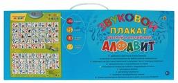 Электронный плакат Рыжий кот Русский и английский алфавит