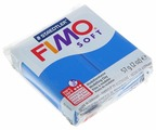 Полимерная глина FIMO Soft запекаемая синий (8020-37), 57 г